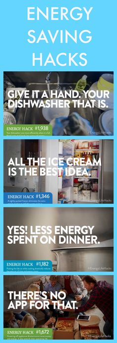 Check out these handy Energy Saving Hacks to save energy AND save money!
