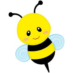 Free Bumble Bee Clipart of Bumble bee free cute bee clip art an illustration of a cute bee free image for your personal projects, presentations or web designs. Bumble Bee Clipart, Bumble Bee Cartoon, Bumble Bees, Bee Party, Cute Bee, Bee Theme, Music For Kids, Children Music, Baby Shower Cards