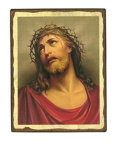 Jesus Christ Crown of thorns – Aged Byzantine Icon – Christianity Art David Painting, Sistine Chapel, Crown Of Thorns, Jesus Christ, Christianity, Age, Byzantine, Artwork, Icons