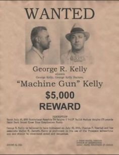 Collectibles Historical Memorabilia American Gangster Mobster George Machine Gun Kelly Poster As Effectively As A Fairy Does