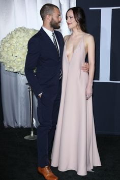 Jamie Dornan and Dakota Johnson at the Fifty Shades Darker premier in LA