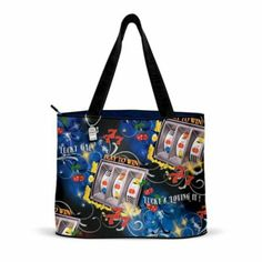 Lucky And Loving It Slot Machine Tote Bag -  	     	              	View Sale Price   Everyone could use a little good luck, and now you can carry luck with you wherever you go with this stylish slot machine tote bag, a custom design exclusively from The Bradford Exchange. Printed with colorful graphics of gleaming slot machines and other...