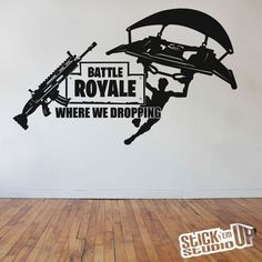 Step your game up a notch with this epic Fortnite Battle Royale vinyl wall decal featuring the legendary scar. x Captivating Matte Black Finish Gamer Bedroom, Boys Bedroom Decor, Boys Game Room, Boy Room, Thomas Bedroom, Vinyl Board, Smile Wallpaper, Game Room Design, Battle Royale