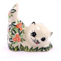 Adorable cat by Polish pottery, http://slavicapottery.com