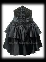 Black Satin Underbust Gothic Corset Skirt