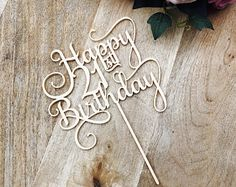 Happy 21st Birthday Cake Topper Decoration Decorating Toppers