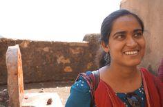 Young woman at Bundi Palace, Bundi, India