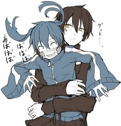 Ene  Kuroha | Kagerou Project<--- I don't ship these two, but this is a cute picture.