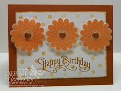 Embossed Button Buddies by Debbie Henderson, Debbie's Designs, Stampin' Up! products.