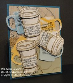 one of my favourite past sets - #PerfectBlend used with the new Cups & Kettle Framelits dies. details in this blog posthttp://stampandcreate.net/blogging-friends-blog-hop-a-few-of-my-favourite-things/