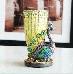 Peacock Pen Holder $19.89 www.allthingspeacock.com