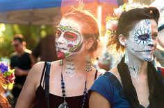 Day of the Dead Skull Makeup and Face Paint