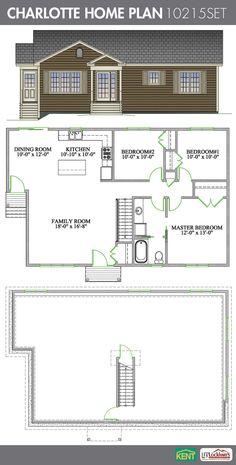 Charlotte 3 Bedroom 1 Bathroom Home Plan Features Open Concept Living Room
