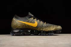 official photos c84cc f366d Nike Air VaporMax 2018 Flyknit Golden Black Men Women Big Size Nike Air  Vapormax, Cheap