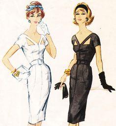 Luis Estevez vintage 50s wiggle dress sewing pattern - McCalls for Quaker Oats B4 - bust 34 di glassoffashion su Etsy https://www.etsy.com/it/listing/181824926/luis-estevez-vintage-50s-wiggle-dress
