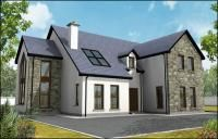 Plan a home. Stone Front House, House On The Rock, House Front, Dream House Exterior, Dream House Plans, House Exteriors, Dormer House, Dormer Bungalow, House Designs Ireland