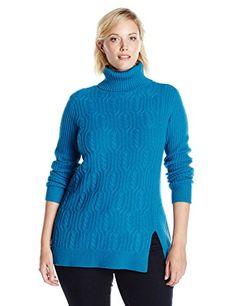 Pendleton+Women's+Plus+Size+Everyday+Luxe+Tunic+Sweater,+Celestial+Blue,+2X