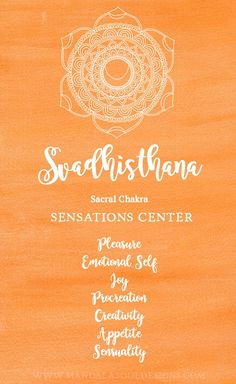 This chakra is our Sensations Center. Learn more about this chakra and how you can heal and balance your Sacral Chakra. 2nd Chakra, Chakra Art, Heart Chakra, Sacral Chakra Healing, Chakra Meditation, Chakra Symbole, Chakra Painting, Spiritual Warfare Prayers, Spiritual Life