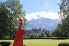 Vorfreude auf die kommende Golfsaison am Golfplatz Kitzbühel Schwarzsee Austria, Golf Courses, Alps, Landscape