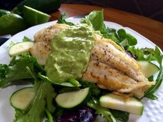 The Melody of Cooking: Creamy Jalapeño Avocado Sauce on White Fish Fillet...