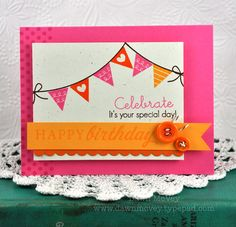 Banner Birthday Card by Dawn McVey for Papertrey Ink (June 2012)