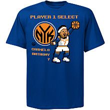 NBA Exclusive Collection New York Knicks Carmelo Anthony 8-Bit Player T-Shirt