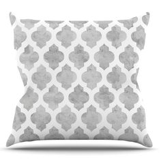 Kess InHouse Amanda Lane Gray Moroccan Outdoor Throw Pillow - AL1013AOP0