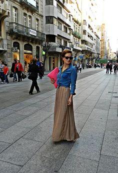 falda larga!!!  , Zara en Camisas / Blusas, zara en Faldas, berhka en Bolsos