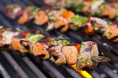Sausage and Beef Skewers with Chimichurri