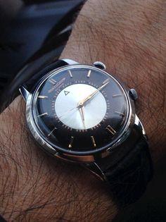 Beautiful Vintage Jaeger LeCoultre Memovox Tuxedo Dial #vintagewatches