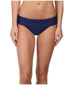 Splendid Womens Navy Banded Pant Mid Rise Bikini Bottoms Size S - Designer-Find Warehouse - 1