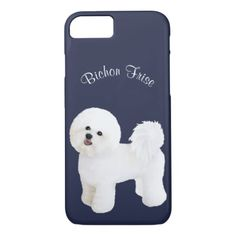 #Bichon Frise Illustrated Cell Phone Case - #cute #gifts #cool #giftideas #custom