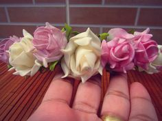 Coroa de Flores com Strass