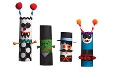 Terrifying Tube Monsters - #Halloween #DIY Crafts