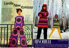 The Official Website 60 Fashion, Vintage Fashion, Womens Fashion, Old Commercials, Magazine Articles, Vintage Outfits, Vintage Clothing, Fashion Pictures, Finland