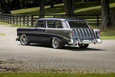 04 1956 Chevy Nomad Ladrew - Provided by Hotrod Chevrolet Bel Air, Chevrolet Suburban, Chevrolet Trucks, Chevrolet Impala, Chevy Classic, Classic Cars, Classic Style, Station Wagon Cars, Chevy Nomad