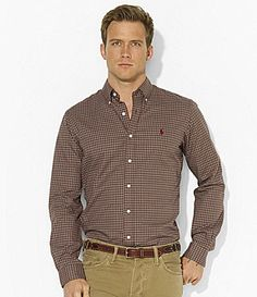 For the guys: Polo Ralph Lauren ClassicFit Plaid Sueded Twill Shirt Gentleman Style, Gentleman Fashion, Casual Wear For Men, Twill Shirt, Lauren Brown, Mens Fashion, Fashion Outfits, Cool Style, Polo Ralph Lauren