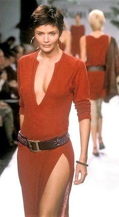 Helena Christensen - Ralph Lauren Runway Show, Spring/Summer 1997