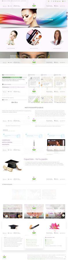 Sitio web desarrollado para el Instituto de estudios de estética