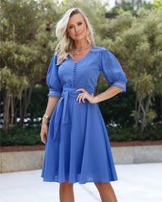 Modest Dresses, Pretty Dresses, Beautiful Dresses, Short Dresses, Fashion Wear, Fashion Dresses, Cotton Shirt Dress, Curvy Dress, Elegant Outfit