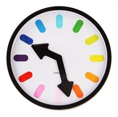 Colourful clock from Matt Blatt $59