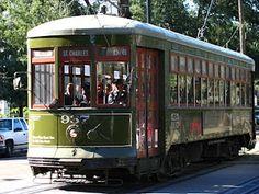 St. Charles Avenue streetcar. #NOLA #New Orleans