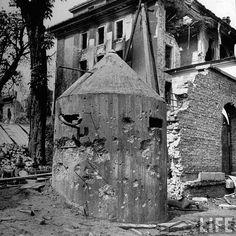 Sentry pillbox near Hitlers bunker, Berlin July 1945