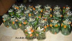 Castraveti in oţet (bulgaresti) - Bunătăți din bucătăria Gicuței Pickles, Cucumber, Zucchini, Vegetables, Food, Canning, Essen, Vegetable Recipes, Meals
