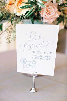 The Bride Cocktail - Moscow Mule: http://www.stylemepretty.com/little-black-book-blog/2015/01/13/elegant-ashford-estate-ballroom-wedding/ | Photography: Kay English - http://www.kayenglishphotography.com/