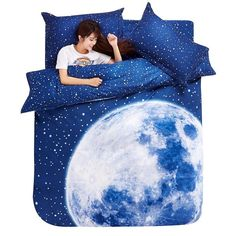 Moon Star Galaxy Bedding Set