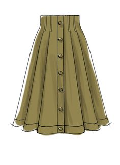 Misses& skirts with belt and button placket Very full pleated skirts are . - Misses& skirts with belt and button placket Very full pleated skirts are worn - Dress Design Drawing, Dress Design Sketches, Fashion Design Drawings, Fashion Sketches, Fashion Design Sketchbook, Pleated Skirt Pattern, Skirt Patterns Sewing, Pleated Skirts, Skirt Sewing