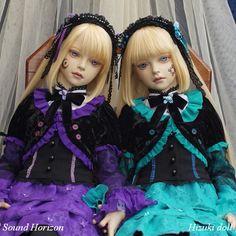 双子の人形 Twins   Hizuki dolls