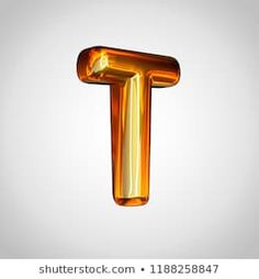 Golden letter T uppercase. render gold font with fire reflection isolated on white background Letter T, Reflection, Monogram, Fire, 3d, Alphabet, Pictures, Monograms