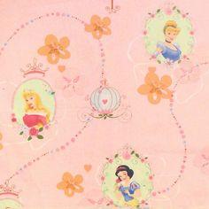 Baumwollstoff bedruckt  Disney Schneewittchen 1 Farbe Rosa 13770